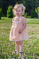 Легкое летнее ситцевое платье 1 2 3 4 годика хорошее качество