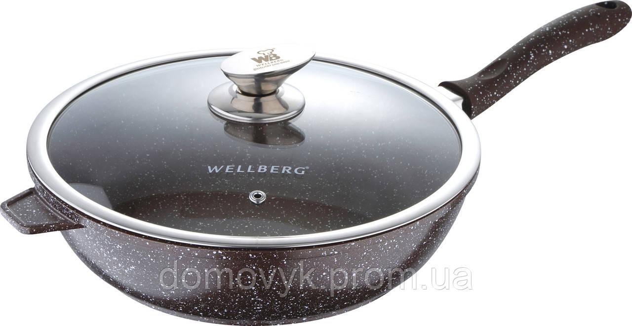 Сковорода глубокая Ø28х7.5 см Wellberg Granit Line (WB-3302)