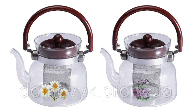 Чайник заварочный 800 мл Wellberg Borosil (WB-6851)