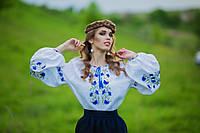 Стильная женская рубашка с вышивкой с растительным орнаментом Ж26-213, фото 1