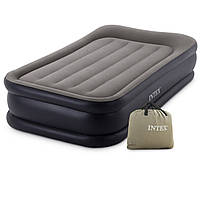 Надувная кровать. 191х99х46см. Электронасос 220В. Нагрузка 100 кг. Intex 64132