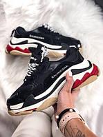 Кроссовки Balenciaga Triple S Red Black \ Баленсиага Трипл С \ Кросівки Баленсіага Тріпл С