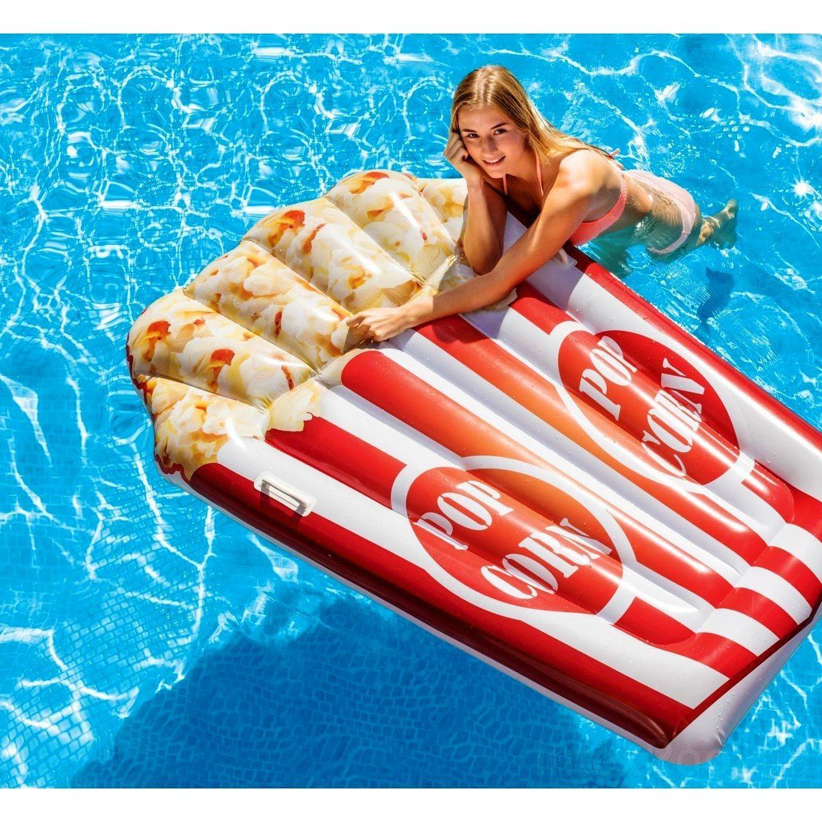 Пляжний надувний матрац - пліт Intex 58779 Попкорн, 178 х 124 см