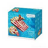 Пляжний надувний матрац - пліт Intex 58779 Попкорн, 178 х 124 см, фото 3