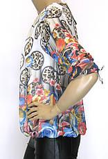 Блузки из шифона в цветочный принт, фото 2