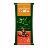 Шоколад черный  без сахара и без глютена Trapa Stevia 50% какао 75г Испания