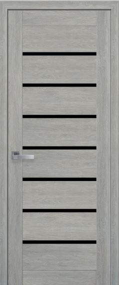 Межкомнатные двери с черным стеклом LEONA