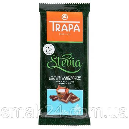 Шоколад молочный  без сахара и без глютена Trapa Stevia  75г Испания