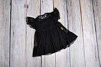 Фатиновое платье+боди, черное, фото 1