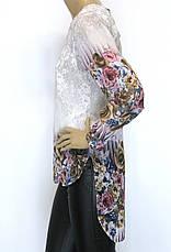 шифонова туніка з квітковим принтом, фото 3