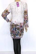 шифонова туніка з квітковим принтом, фото 2