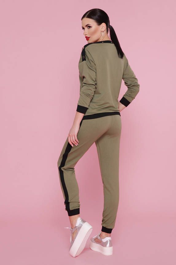 Женский спортивный костюм прогулочный хаки, фото 2