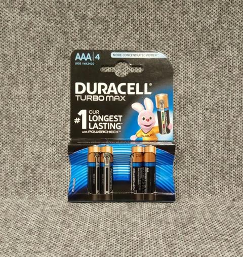 Батарейки Duracell Turbo AAA LR03