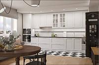 Кухня в стиле современная классика в белых тонах  , фото 1