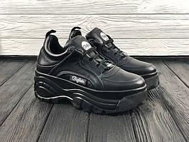 Женские кроссовки Buffalo London Black \ Буффало Лондон Черные \ Жіночі кросівки Буффало Лондон Чорні