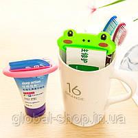 Пресс,зажим для выдавливания тюбиков зубной пасты,полигеля и похожих тюбиков,2 вида (жабка и губки), фото 7