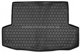 Резиновый коврик багажника Chevrolet Aveo 2005- (седан) Avto-Gumm