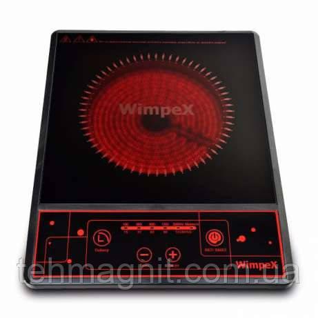 Инфракрасная плита настольная, электроплита WimpeX WX1322  с функцией барбекю с таймером (2000W)