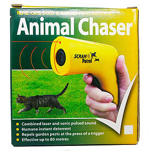 Мощный ультразвуковой отпугиватель собак и котов Ultrasonic Animal Chaser Yellow, фото 2
