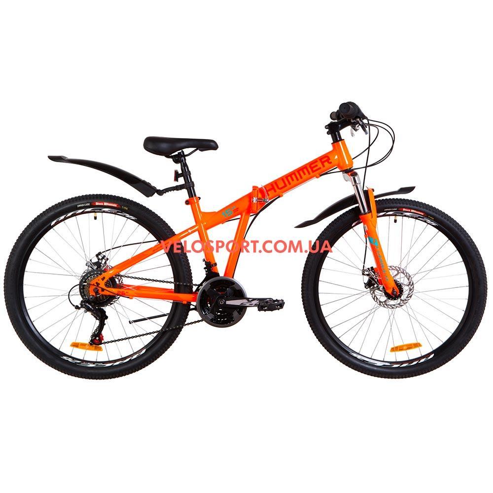 Складной велосипед Formula Hummer DD 26 дюймов оранжево-бирюзовый