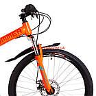 Складной велосипед Formula Hummer DD 26 дюймов оранжево-бирюзовый, фото 2