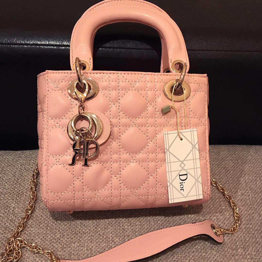 691efd63372b Женская сумка в стиле Dior Lady (Диор Леди), розовый цвет, цена 903 ...