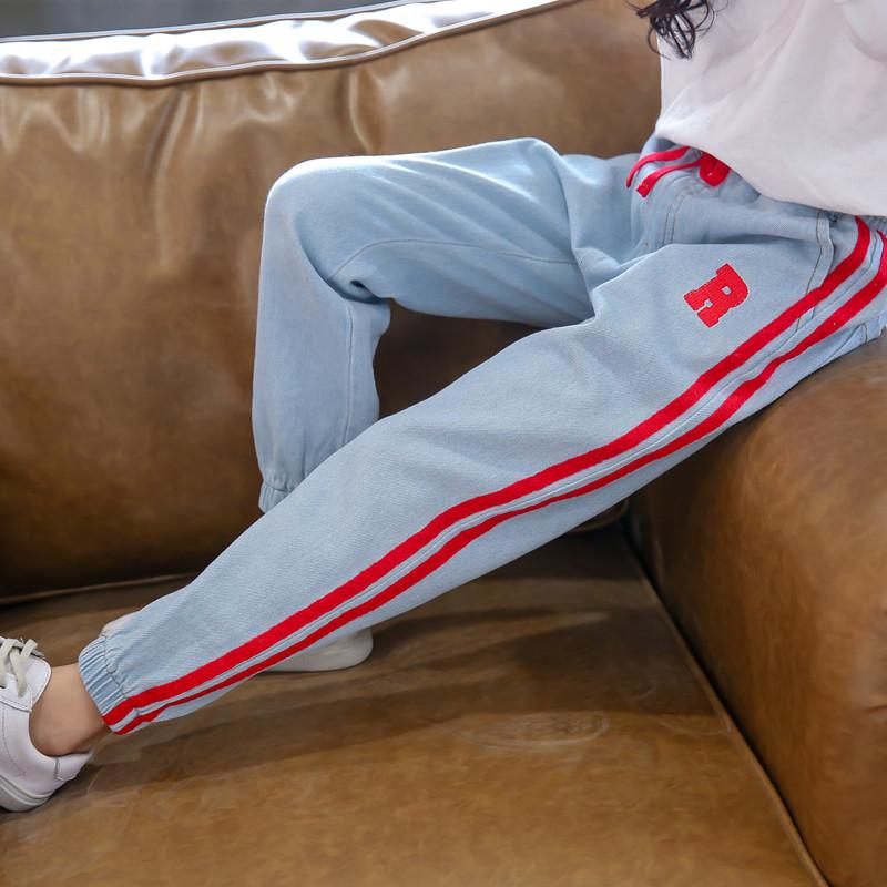 Детские джинсы спортивные на девочку