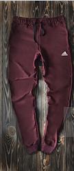 Чоловічі спортивні штани бордові Adidas топ репліка