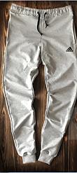 Чоловічі спортивні штани сірі Adidas топ репліка