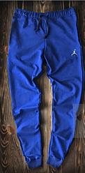 Чоловічі спортивні штани Jordan яскраво-синього кольору топ-репліка