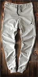 Чоловічі спортивні штани Jordan сірого кольору топ-репліка