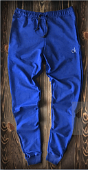 Чоловічі спортивні штани яскраво-синього кольору