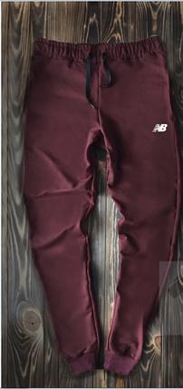 2e65c702ee6f1 Мужские спортивные штаны бордового цвета New Balance топ реплика, фото 2