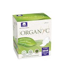 Гигиенические прокладки для интенсивных выделений с крылышками, в индивидуальной упаковке Organ(y)c