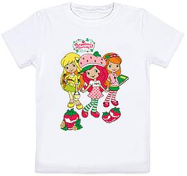 """Детская футболка """"Strawberry Shortcake"""" (белая)"""