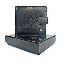 Мужской кожаный кошелек dr. Bond черный, фото 1