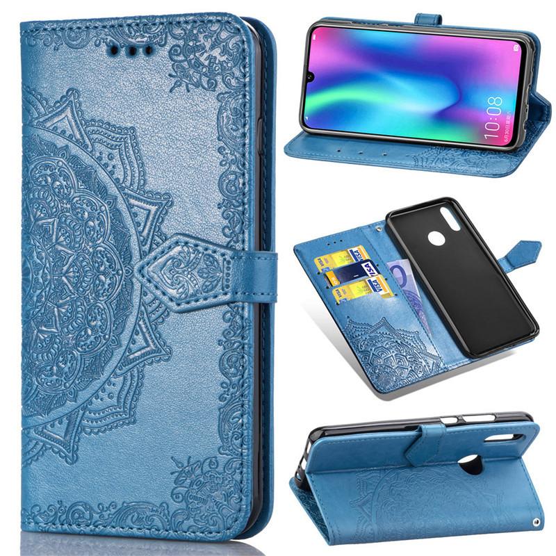 Чехол Vintage для Huawei P Smart 2019 / HRY-LX1 книжка кожа PU Blue