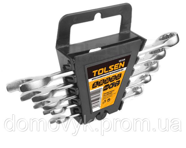 Комплект комбинированных ключей 5 шт в чехле 8-10-12-14-17 мм Tolsen (15155)