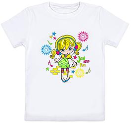 """Детская футболка """"Joy and Fun"""" (белая)"""