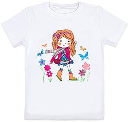 "Детская футболка ""Girl"" (белая)"