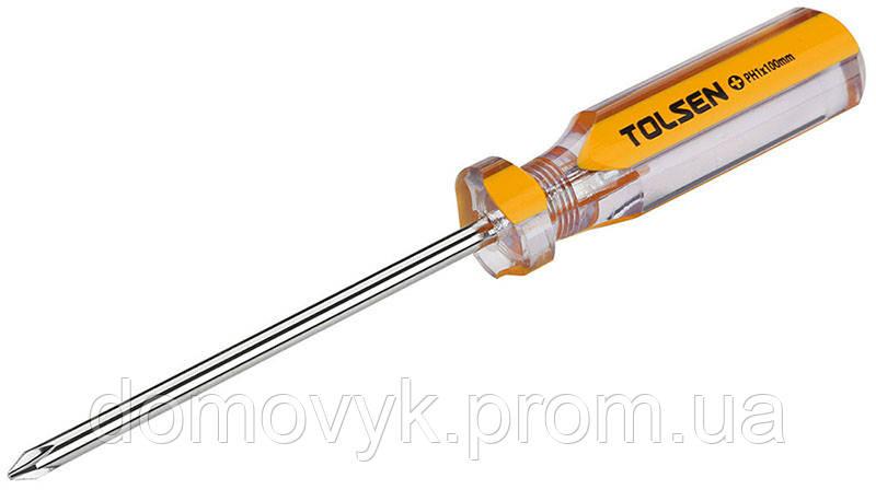 Отвертка крестовая РН 0х75 мм Tolsen (20021)