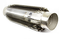 Труба радиатор для дымохода, твердотопливного котла, буржуйки 150  1 мм AISI 304 нержавеющая