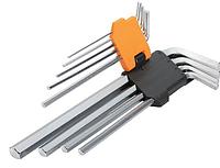 Комплект удлиненных шестигранных ключей 9 шт 1.5-10 мм Tolsen (20049)