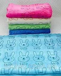Банные полотенца Зайчики или др. микрофибра 1,4*70 качество супер