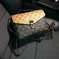 Женская сумка в стиле LOUIS VUITTON (Луи Виттон), коричневый цвет