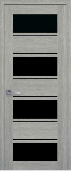 Межкомнатные двери с черным стеклом ELIZA