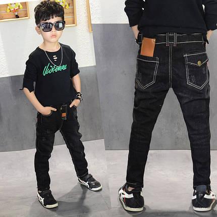 Штаны детские черные узкие , фото 2