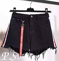 Стильные женские шорты, черные, 1203-010