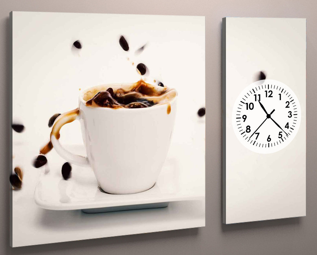 Часы на кухню Кофе 100х60