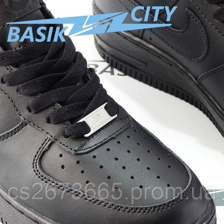 Мужские кроссовки Nike Air Force черные
